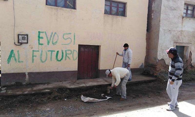 Evo murales si al futuro - La Paz, Bolivia