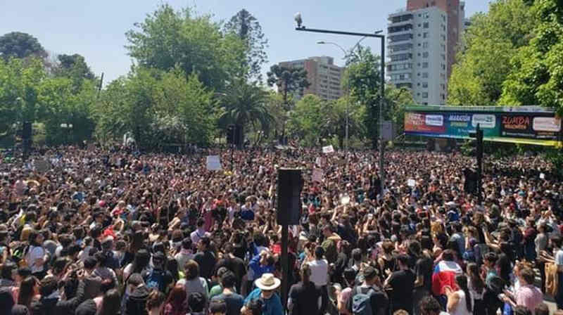 Santiago del Cile - manifestazione