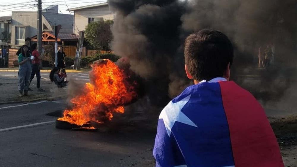Santiago del Cile - protesta di piazza