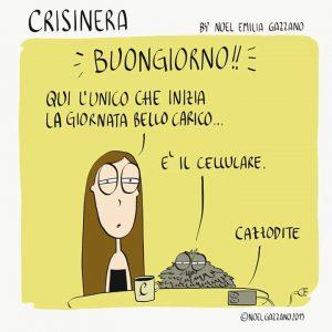 CrisiNera alias Noel Gazzano al mattino.