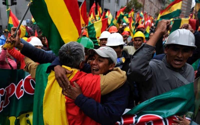 Bolivia - manifestanti contro Evo Morales