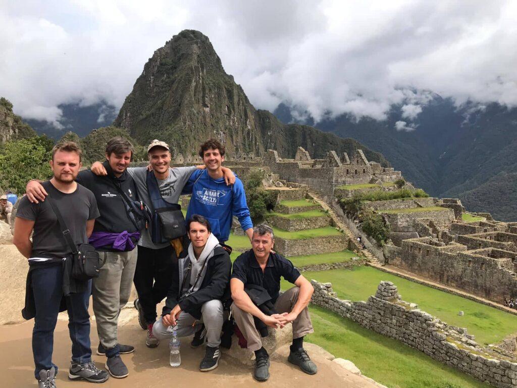 Compagni on the road finalmente a Macchu Picchu, Perù