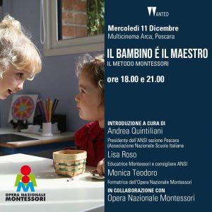 Il bambino è il maestro al cinema a Pescara