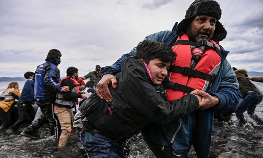 Migranti a Lesbo