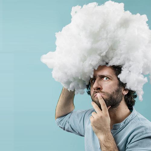 Peppe Millanta e la sua testa fra le nuvole.