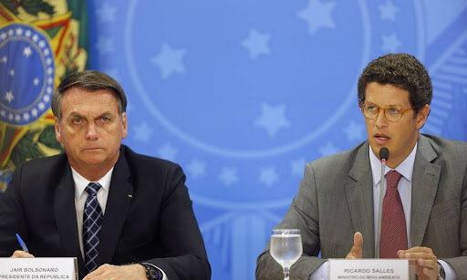 Il Presidente del Brasile Bolsonaro e il Ministro Salles