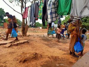 Le donne del villaggio di Shinga, a sud di Lubumbashi.